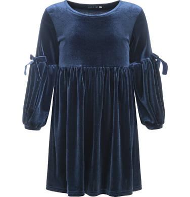 Endo - Sukienka welurowa z długim rękawem dla dziewczynki 3-8 lat D82H058_1