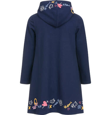 Endo - Sukienka z kapturem i długim rękawem dla dziewczynki 3-8 lat D92H029_1