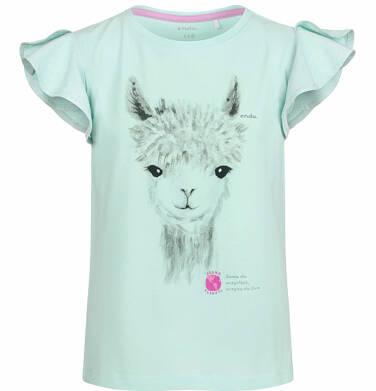 Endo - Bluzka z krótkim rękawem dla dziewczynki, z alpaką, niebieska, 9-13 lat D03G606_1