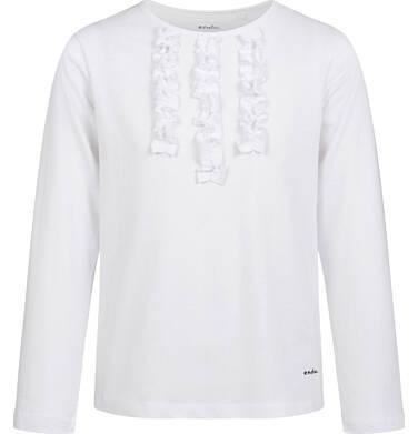 Endo - Bluzka z długim rękawem dla dziewczynki, biała, 9-13 lat D03G722_1 1
