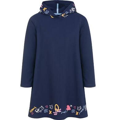 Sukienka z kapturem i długim rękawem dla dziewczynki 9-13 lat D92H529_1