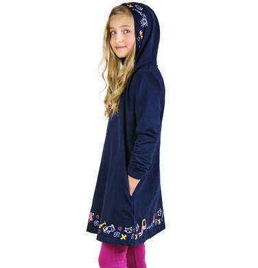 Endo - Sukienka z kapturem i długim rękawem dla dziewczynki 9-13 lat D92H529_1