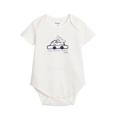 Endo - Body z krótkim rękawem dla dziecka do 2 lat, białe N04M024_1 1