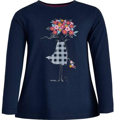 Endo - T-shirt z długim rękawem dla dziewczynki 9-13 lat D82G562_1