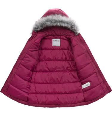 Endo - Długa kurtka zimowa, płaszcz z kapturem, malinowy, 9-13 lat D04A012_2 4