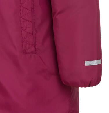 Endo - Długa kurtka zimowa, płaszcz z kapturem, malinowy, 9-13 lat D04A012_2,6