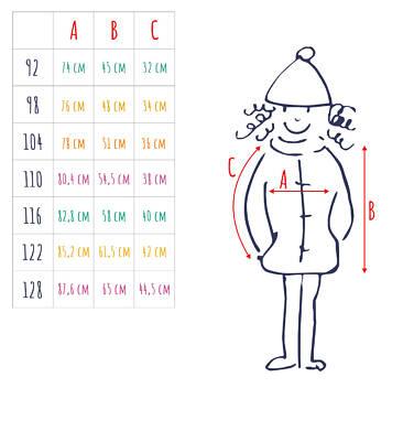 Endo - Długa kurtka parka zimowa z kapturem, 2-8 lat D04A020_1,4