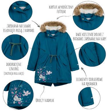 Endo - Długa kurtka parka zimowa z kapturem, 2-8 lat D04A020_1,5