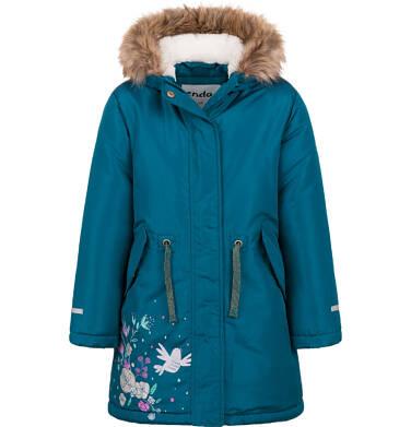 Długa kurtka parka zimowa z kapturem, 2-8 lat D04A020_1