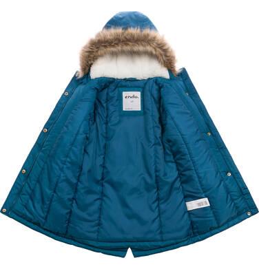 Endo - Długa kurtka parka zimowa z kapturem, 2-8 lat D04A020_1,3