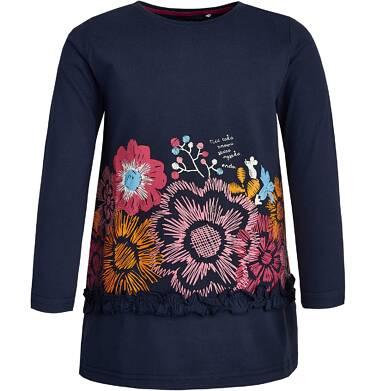 T-shirt z długim rękawem dla dziewczynki 9-13 lat D82G566_1