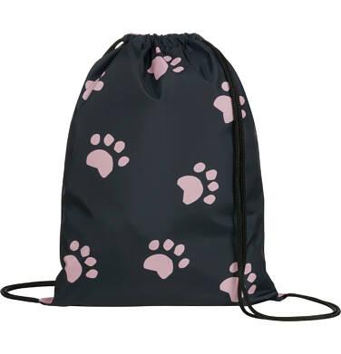 Endo - Plecak - worek, z czarnym kotem, różowy SD03G013_1 13
