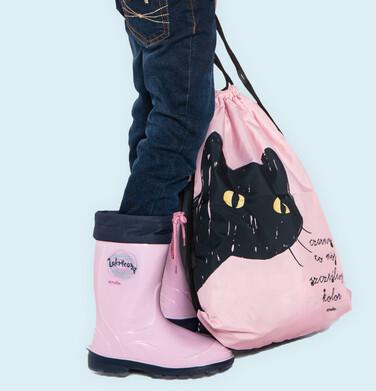 Endo - Plecak - worek, z czarnym kotem, różowy SD03G013_1 5