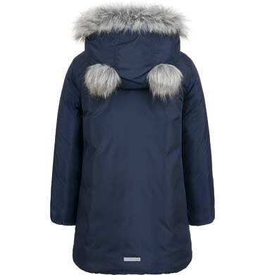 Endo - Długa kurtka zimowa, płaszcz z kapturem, granatowy, 2-8 lat D04A021_1,3