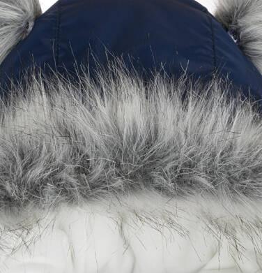 Endo - Długa kurtka zimowa, płaszcz z kapturem, granatowy, 2-8 lat D04A021_1,8