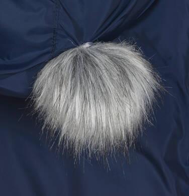 Endo - Długa kurtka zimowa, płaszcz z kapturem, granatowy, 2-8 lat D04A021_1,7