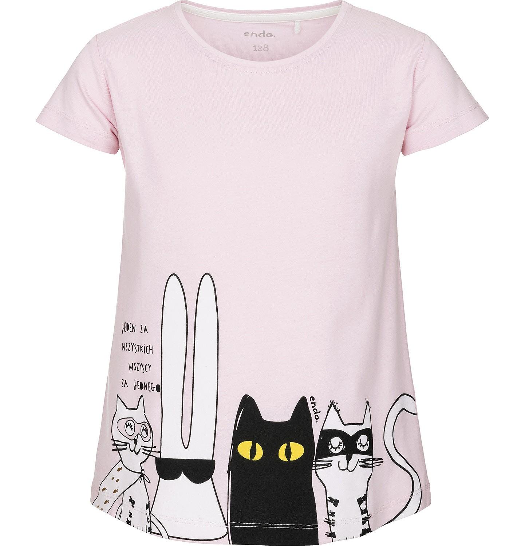 Endo - T-shirt z krótkim rękawem dla dziewczynki 9-13 lat D91G563_1