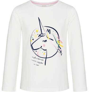 Endo - Bluzka z długim rękawem dla dziewczynki, myślę o kosmosie, złamana biel, 9-13 lat D92G588_1 287