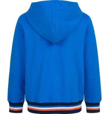 Endo - Rozpinana bluza z kapturem dla chłopca, z autem, niebieska, 9-13 lat C03C521_1 35