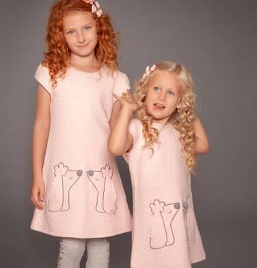 Endo - Sukienka z krótkim rękawem dla dziewczynki 3-8 lat D82H001_1