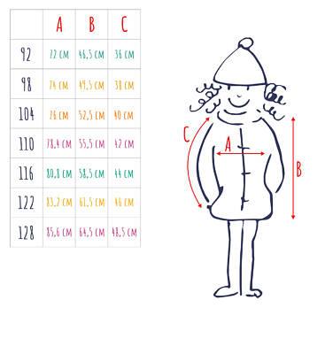 Endo - Długa kurtka zimowa, płaszcz z kapturem, malinowy, 2-8 lat D04A021_2,5