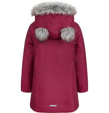 Endo - Długa kurtka zimowa, płaszcz z kapturem, malinowy, 2-8 lat D04A021_2,4