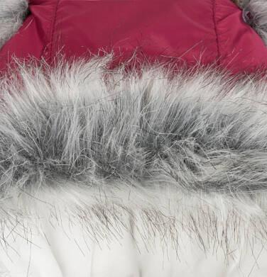 Endo - Długa kurtka zimowa, płaszcz z kapturem, malinowy, 2-8 lat D04A021_2,9
