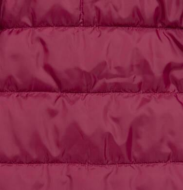 Endo - Długa kurtka zimowa, płaszcz z kapturem, malinowy, 2-8 lat D04A021_2,7