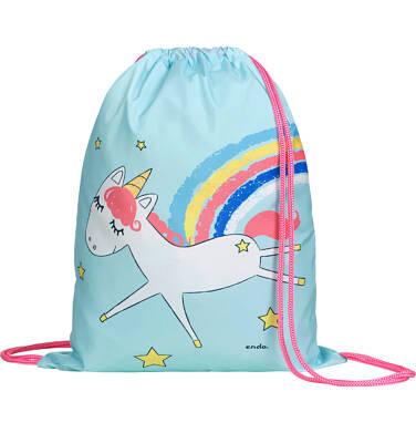 Endo - Worek-plecak dla dziewczynki, z jednorożcem, miętowy SD03G015_1 191