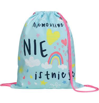 Endo - Plecak - worek, z jednorożcem, miętowy SD03G015_1 11