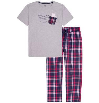 Endo - Piżama z długimi spodniami męska Q72V001_1