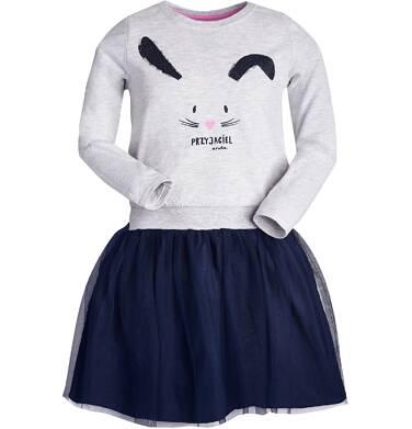 """""""Przyjaciel"""" Sukienka z długim rękawem dla dziewczynki 3-8 lat D82H050_1"""