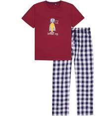 Endo - Piżama z długimi spodniami męska Q72V003_1