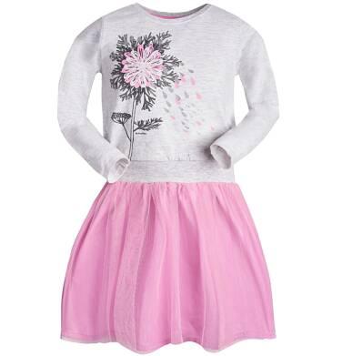 Endo - Sukienka z długim rękawem dla dziewczynki 3-8 lat D82H051_1