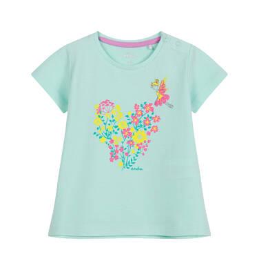 Endo - Bluzka dla dziecka do 2 lat, w kwiaty, zielona N03G043_1 30
