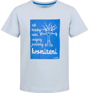 Endo - T-shirt z krótkim rekawem dla chłopca, wszyscy jesteśmy kosmitami, niebieski, 9-13 lat C03G612_1 54