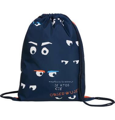 Worek-plecak dla chłopca, mam cię na oku, pomarańczowy SD03G020_1