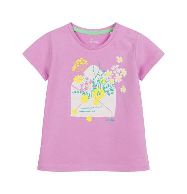 Endo - Bluzka dla dziecka do 2 lat, w kwiaty, różowa N03G044_1 14