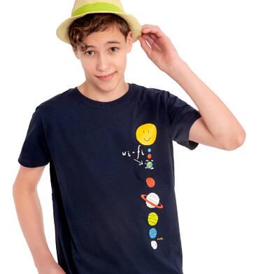 Endo - T-shirt z krótkim rękawem dla chłopca, z planetami, granatowy, 2-8 lat C03G113_1 9