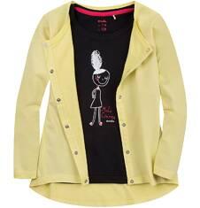 Bluza zapinana na napy dla dziewczynki 9-13 lat D71C505_6