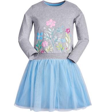 Endo - Sukienka z długim rękawem dla dziewczynki 9-13 lat D82H552_1