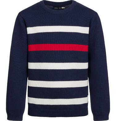 Sweter dla chłopca, w paski, granatowy, 9-13 lat C03B501_1