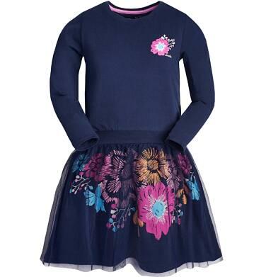 Endo - Sukienka z długim rękawem dla dziewczynki 3-8 lat D82H053_1