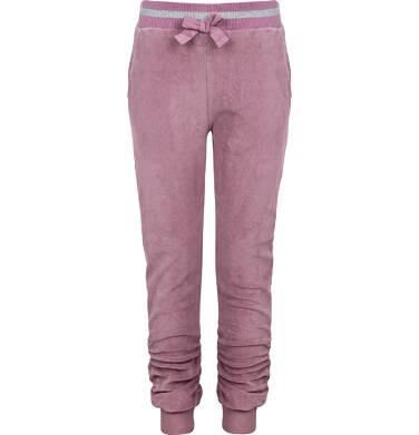 Spodnie dresowe welurowe dla dziewczynki 9-13 lat D82K511_1