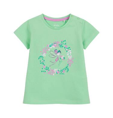 Endo - Bluzka dla dziecka do 2 lat, z wiankiem z kwiatów, zielona N03G046_1 28