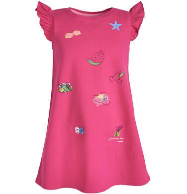 Sukienka z krótkim rękawem dla dziewczynki 9-13 lat D81H551_1