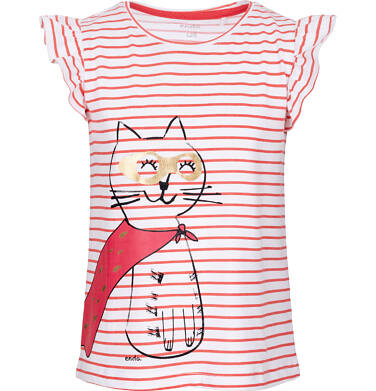 T-shirt z krótkim rękawem dla dziewczynki 3-8 lat D91G064_1