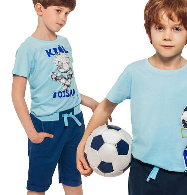 Krótkie spodenki dresowe dla chłopca, ciemnoniebieskie, 2-8 lat C05K032_2