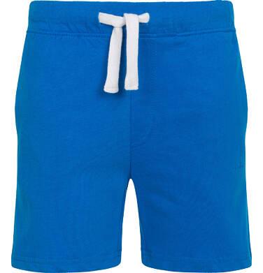 Krótkie spodenki dla chłopca, z kieszonką z tyłu, niebieskie, 2-8 lat C05K046_2