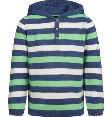 Sweter dla chłopca, z kapturem, w paski, 9-13 lat C03B502_1